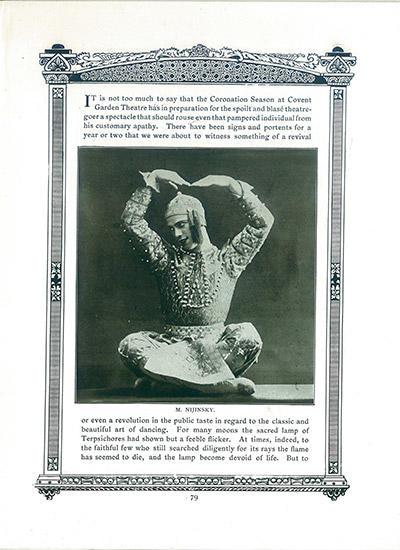 『レ・ゾリアンタル』より 「シャムの踊り」ニジンスキー