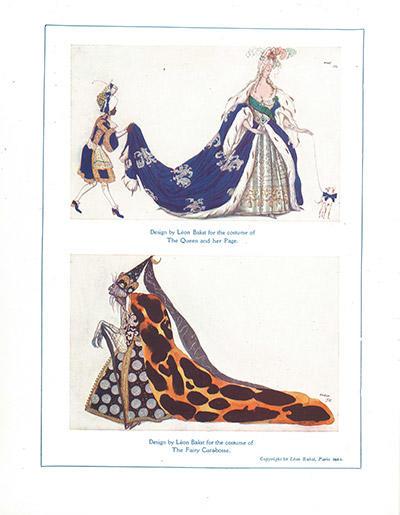 『眠り姫』王妃と小姓(上)と カラボス(下)の衣装デザイン