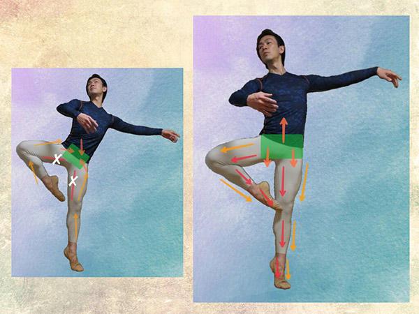 「両の脚に注ぐ力のバランスを均等に分配できるか」