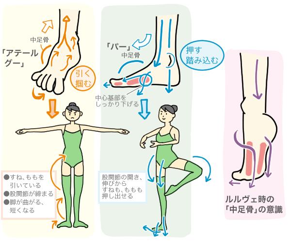 「中足骨の使い方」