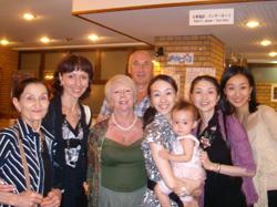 奈良にて 年に一度再会するロシアの先生たちと