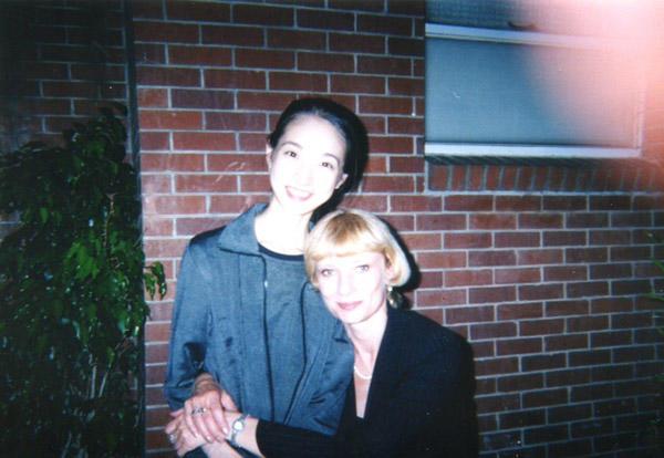 1998年 ジャクソン国際ダンスコンクールで タチアナ・テレホワと (C) Emi Hariyama