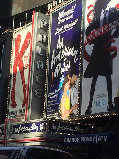 昨年のトニー賞を三つ受賞したブロードウェイミュージカル『An American in Paris』(巴里のアメリカ人)を観てきました!