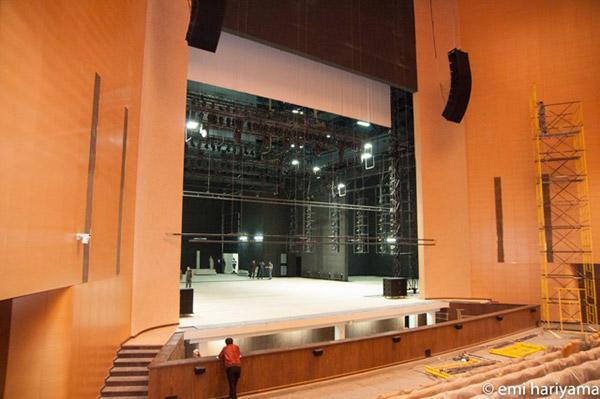 12月10日オープンの劇場の内観
