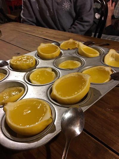 ウォッカ入りのレモンゼリー
