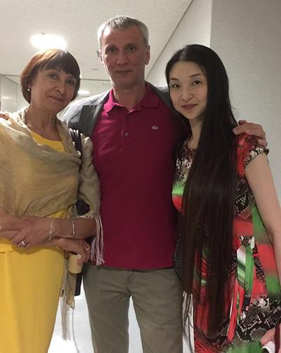 ボリショイ・バレエ団芸術監督マハールと奥様のチェンチコワ