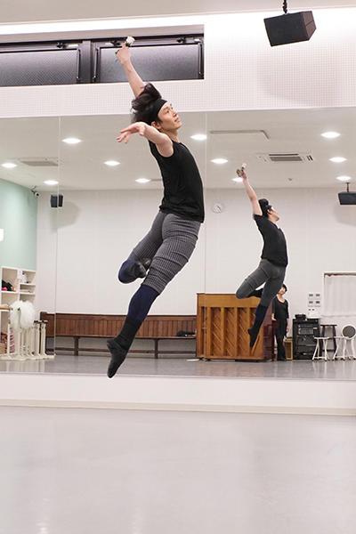 「バレエ・ローズ」リハーサルより キム・セジョン