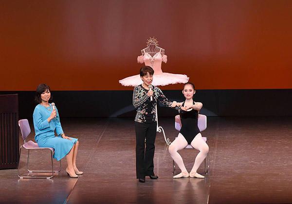 「やさしいバレエ講座&簡単エクササイズ」解説・指導:野間康子、モデル:横野愛 撮影:M take 連昌浩