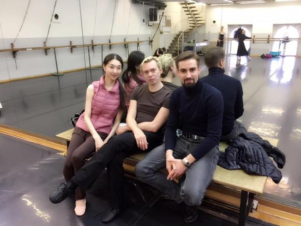 クロアチア国立バレエ団スタジオにてマラーホフさんとディレクター