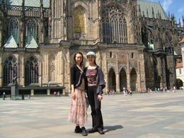 祐美とプラハにて
