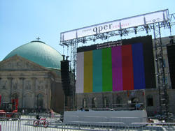 オペラ『マノン』の野外ステージ