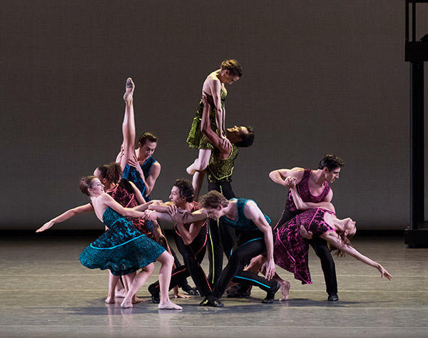 New York City Ballet in Peter Walker's Ten in Seven. (C) Paul Kolnik