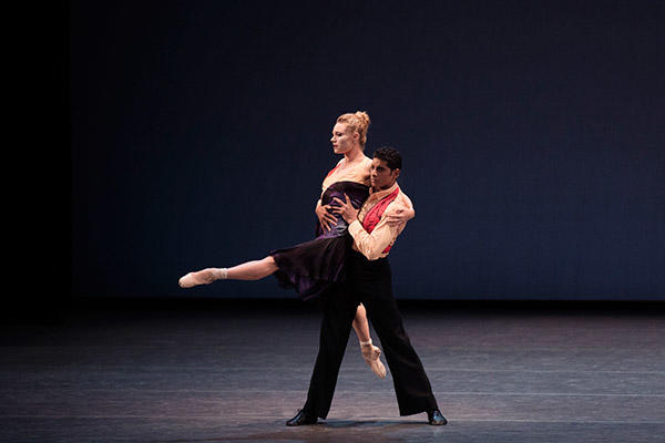 Sara Mearns and Amar Ramasar in Justin Peck's The Dreamers. (C) Paul Kolnik