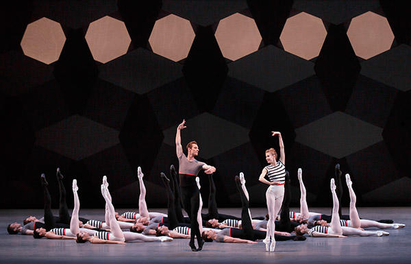 Sterling Hyltin and Andrew Veyette in Justin Peck's Everywhere We Go. (C) Paul Kolnik