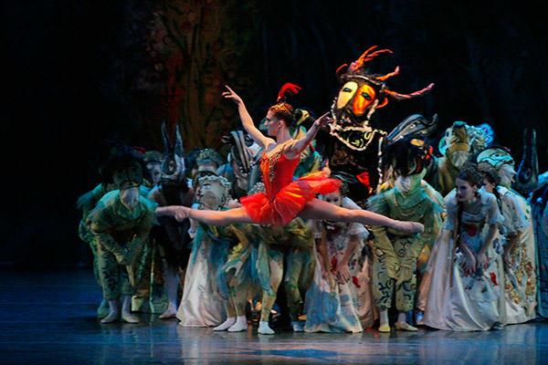 Ashley Bouder in George Balanchine's Firebird. Photo (C) Paul Kolnik