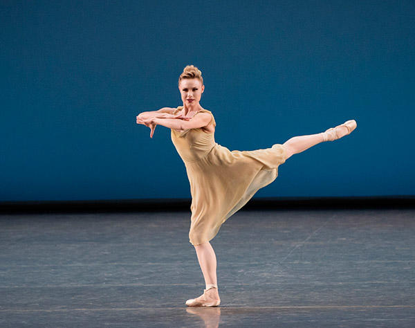 Sara Mearns in Jerome Robbins' Dances at a Gathering. Photo (C) Paul Kolnik