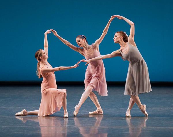 Sterling Hyltin, Rebecca Krohn, and Lauren King in Jerome Robbins' Dances at a Gathering. Photo (C) Paul Kolnik