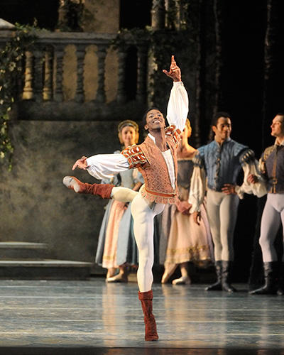 Calvin Royal III as Benno in Swan Lake. Photo: Gene Schiavone.