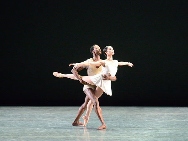 Stella Abrera and Calvin Royal III in Bach Partita. Photo: Gene Schiavone.