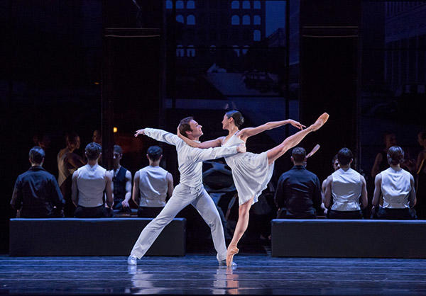 The Joffrey Ballet's Christine Rocas & Rory Hohenstein in Romeo & Juliet  Photo by Cheryl Mann.