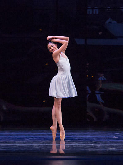 The Joffrey Ballet's Christine Rocas in Romeo & Juliet. Photo by Cheryl Mann