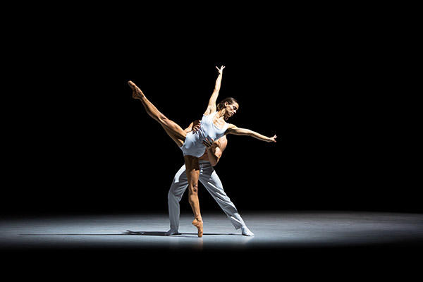 Sophie Martin and Victor Zarallo in Bryan Arias' Motion of Displacement Photo by Andy Ross