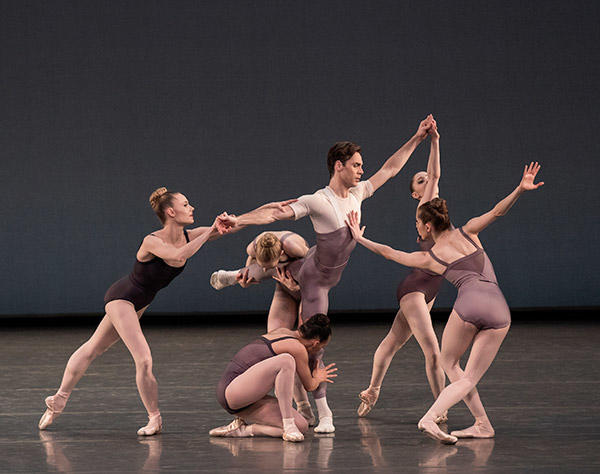 Gonzalo Garcia and Company in Justin Peck's The Decalogue. Photo (C) Paul Kolnik