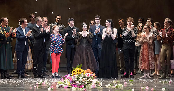 Diana Vishneva at the curtain call after her ABT farewell. Photo: Gene Schiavone.