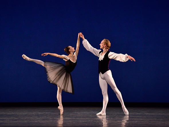 Christine Shevchenko and David Hallberg in Mozartiana. Photo: Gene Schiavone