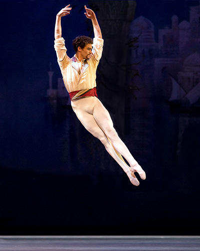 コリー・スターンズ Cory Stearns in Le Corsaire. Photo: Marty Sohl.