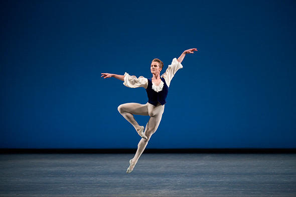 Chase Finlay in George Balanchine's Mozartiana Photo by Paul Kolnik