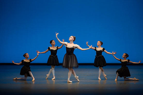 Sara Mearns in George Balanchine's Mozartiana Photo by Paul Kolnik
