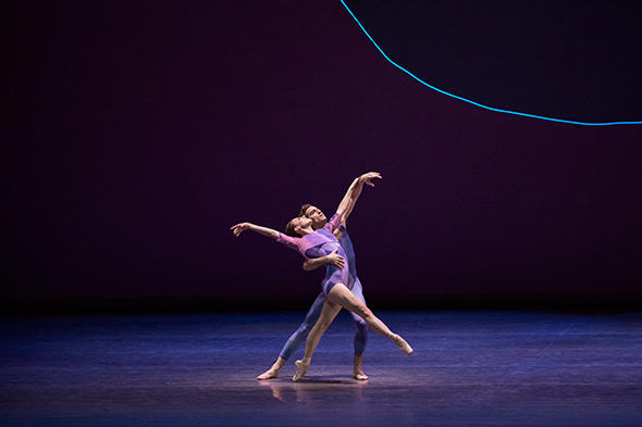 Tiler Peck and Zachary Catazaro in Peter Walker's dance odyssey Photo by Paul Kolnik