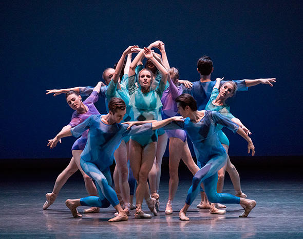 Lauren King and Company in Peter Walker's dance odyssey Photo by Paul Kolnik