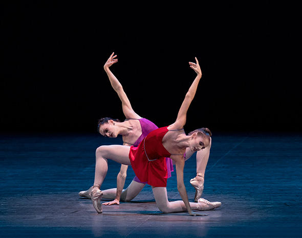 Unity Phelan and Megan LeCrone in Peter Martins' The Red Violin Photo by Paul Kolnik