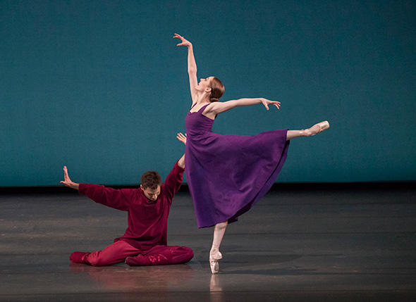 Kristen Segin and Troy Schumacher in Alexei Ratmansky's Russian Seasons Photo by Paul Kolnik