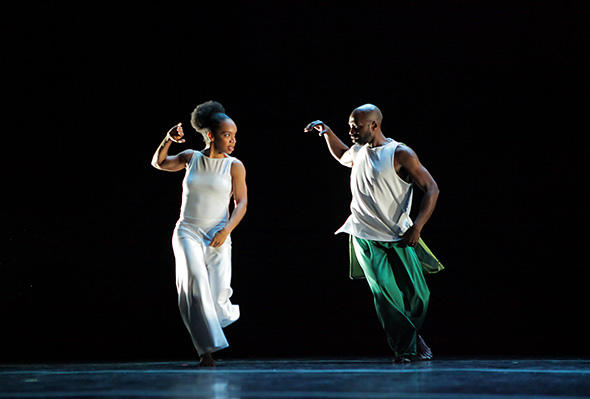 Annique Roberts and Ronald K. Brown in TORCH.  Photo © Ayodele Casel