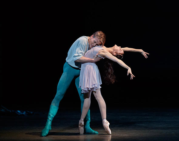 Lauren Lovette and Chase Finlay in Peter Martins' Romeo + Juliet Photo by Paul Kolnik