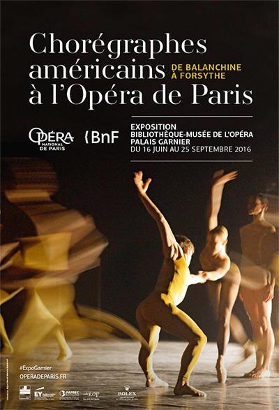 「パリ・オペラ座におけるアメリカの振付家 バランシンからフォーサイスまで」ポスター