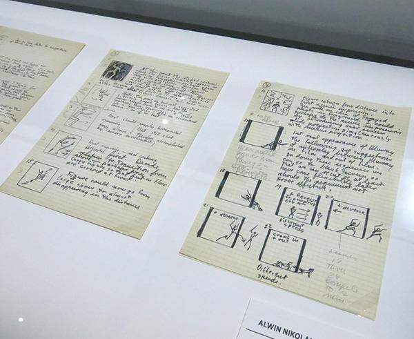 第二部 リバーマン総監督時代の アルヴィン・ニコライによる創作ノートの展示