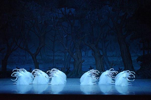東京シティ・バレエ団『ジゼル』第2幕 ウィリたち 撮影:鹿摩隆司