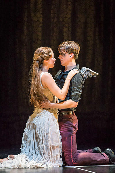 Matthew Bourne's SLEEPING BEAUTY. Ashley Shaw (Aurora) and Dominic North (Leo). Photo by Johan Persson