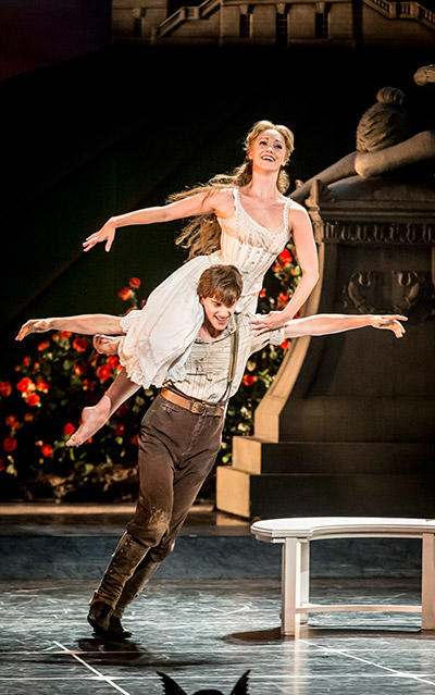 Matthew Bourne's SLEEPING BEAUTY. Dominic North (Leo) and Ashley Shaw (Aurora) . Photo by Johan Persson