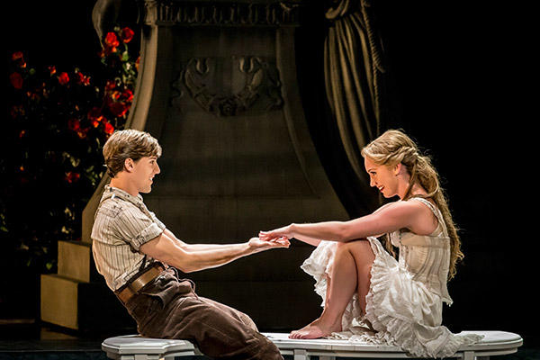 Matthew Bourne's SLEEPING BEAUTY. Dominic North (Leo) and Ashley Shaw (Aurora). Photo by Johan Persson