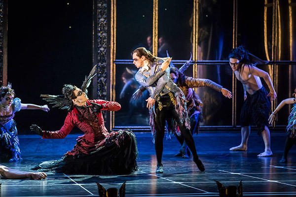 Matthew Bourne's SLEEPING BEAUTY. Adam Maskell (Carabosse) and Christopher Marney (Count Lilac). Photo by Johan